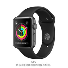 Apple/ apple Apple Watch Series 3 deep air gray aluminum case with black sports strap.