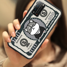卡通美元hn1物华为荣i2手机壳硅胶荣耀x10plus保护套软全包防摔个性创意纸