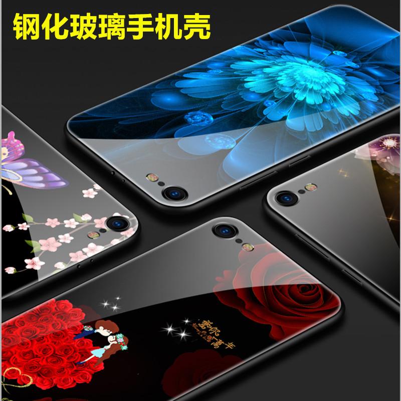 苹果X手机壳xr情侣秀恩爱iphone7网红8plus硅胶6s钢化玻璃XSMAX潮