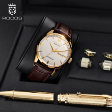 Men's watches, men's watches, automatic mechanical watches, waterproof fashion, new genuine belt watches.
