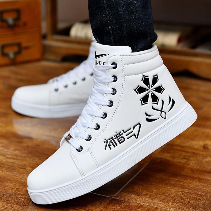 秋冬季男士高帮鞋韩版潮休闲隐形内增高男鞋6cm8cm小白鞋子男板鞋