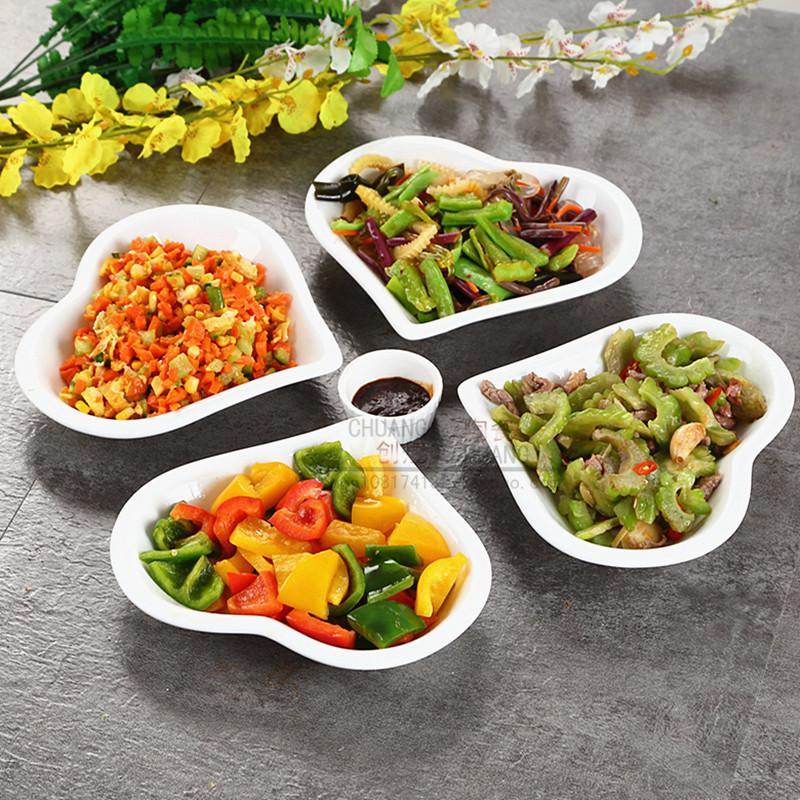 陶瓷餐具拼盘组合西餐盘微波碟子纯白盘子创意不规则家用菜盘套装