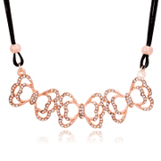 K124 good authentic Korea jewelry bow short necklace women''s accessories Korean women necklace fashion