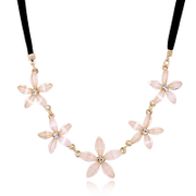 Package mail K118 well wind necklace jewelry Korea female long retro Daisy Flower necklace