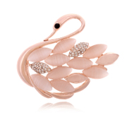 9.9-mail good Swan rhinestones brooch cute jewelry brooch pin brooch shawl chain girls