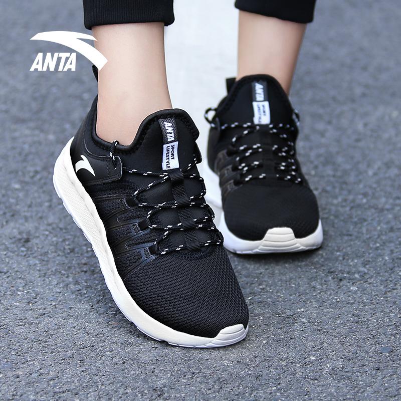 安踏女鞋跑步鞋2019夏季新款运动鞋官方正品透气轻便休闲跑鞋女士
