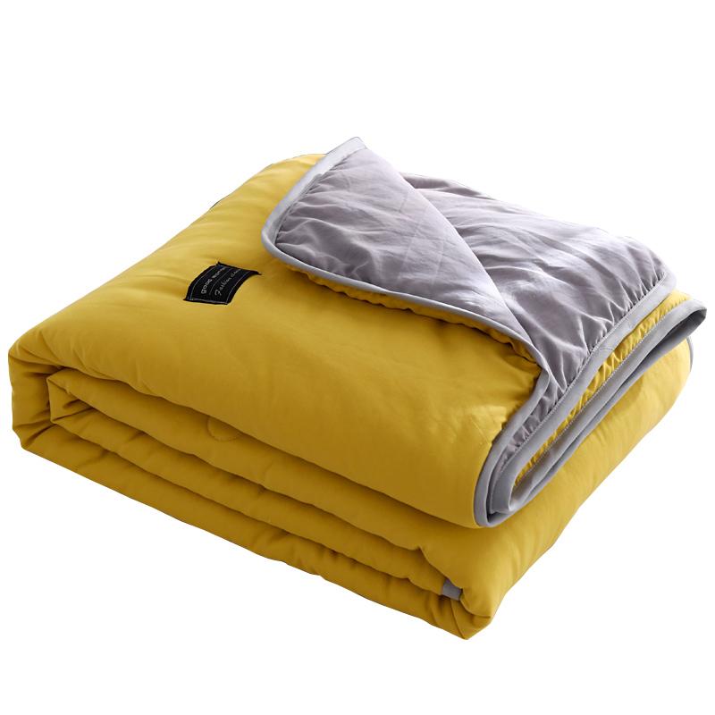 贴布绣水洗棉空调被夏凉被芯夏天单人学生宿舍夏季双人春秋薄被子