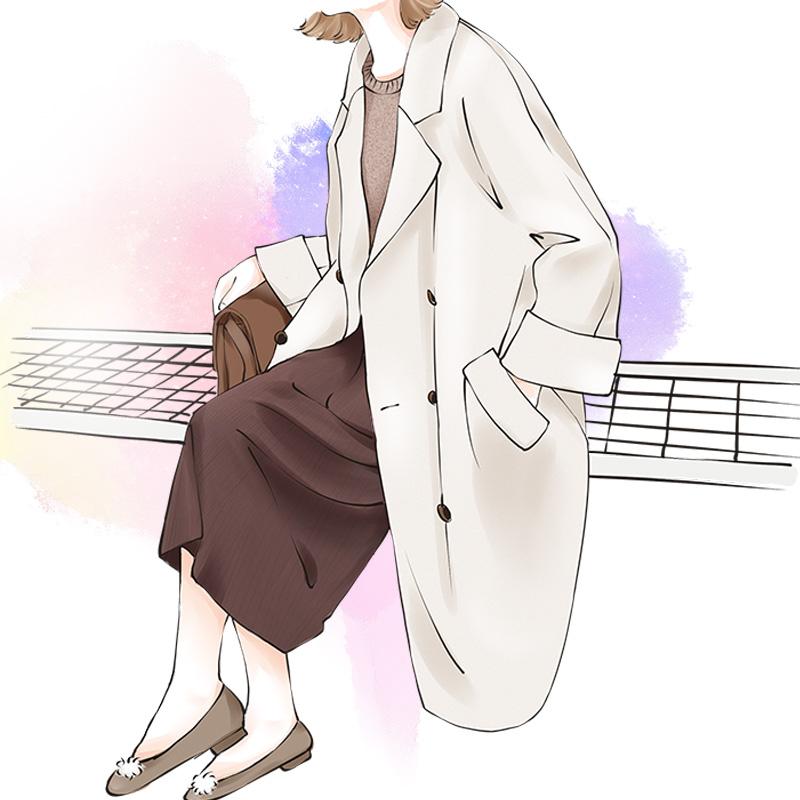 反季双面呢大衣女中长款韩版2018冬季新款宽松呢子赫本风毛呢外套