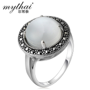 Very Thai vintage Thai silver jewelry 925 Silver ring women fashion Europe people single ring authentic
