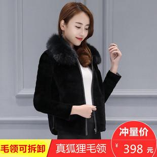 羊剪绒大衣女新款2018韩版秋