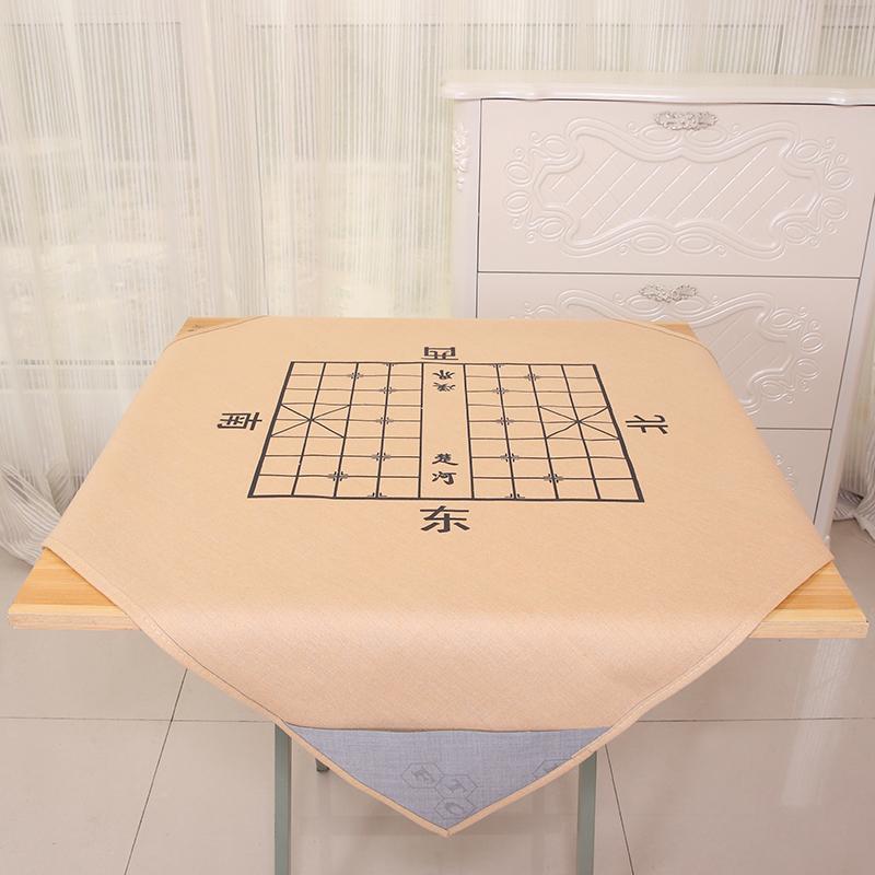 家用手搓麻将毯麻将桌垫娱乐麻将台布带四兜象棋布消音麻将布桌布