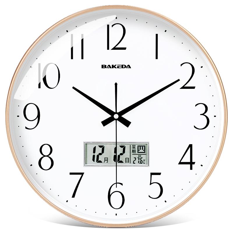家用客厅静音钟表卧室北欧挂钟现代简约时钟创意时尚挂表石英钟