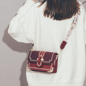 On the new small bag foreign style women's bag new 2019 trendy fashion simple shoulder bag Mori retro wideband messenger bag
