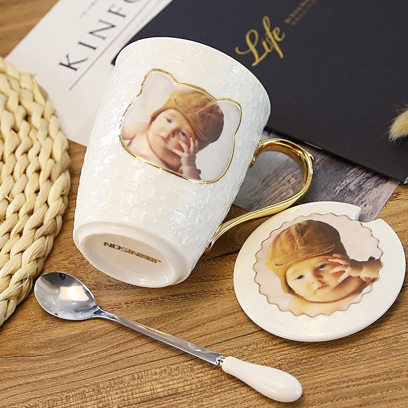 文字感温订制魔术图片走心茶杯个性刻字倒水订做照片水杯遇热变色