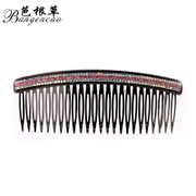 Bagen grass comb hair accessories Korean headdress into three rows of diamonds bangs clip hairpin hair Korea jewelry Combs