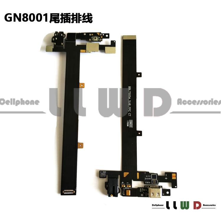适用金立GN8001尾插排线 M5PLUS耳机座送话器尾插充电USB接口小板