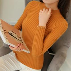 新款秋装女短款套头针织衫打底衫显瘦毛衣外套圆领修身百搭毛衣