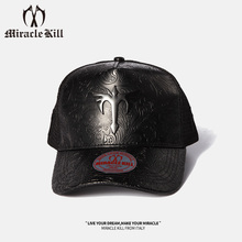 Taliska Limited MK Twin-Knife MIRACLEKILL Corner Tidal Hat Leather Baseball Netcap for Men and Women
