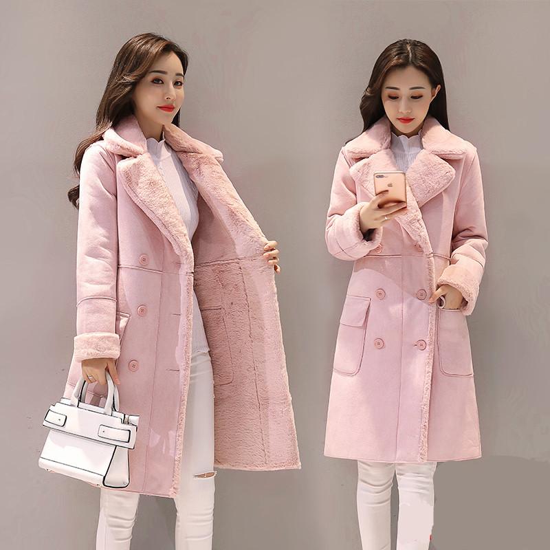 女装新款韩版麂皮毛毛绒外