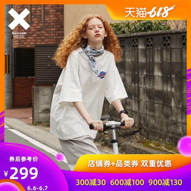 【INXX】Stand by 潮牌短袖T恤男宽松休闲潮流夏新款白色情侣t恤