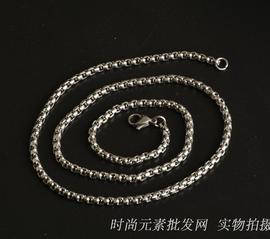 项链配链钢链子男钛钢料包不锈钢细锁骨链颈链女生配件链条无吊坠