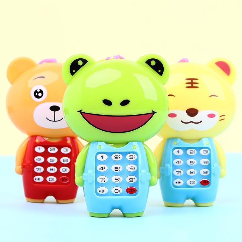 创意卡通动物发光手机玩具0-1-3岁宝宝益智音乐早教电话儿童批发