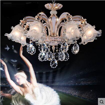 特价欧式水晶吊灯现代奢华大气客厅餐厅灯田园创意家用卧室吸顶灯_旺美灯饰
