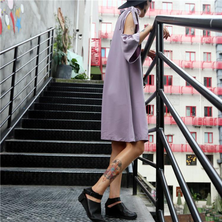 还有 蝴蝶结 绑带 纯色 连衣裙 简约 性感 少女