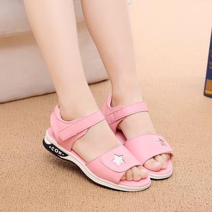 女童凉鞋夏季2018新款韩版中大童公主鞋小学生儿童凉鞋女童鞋真皮图片
