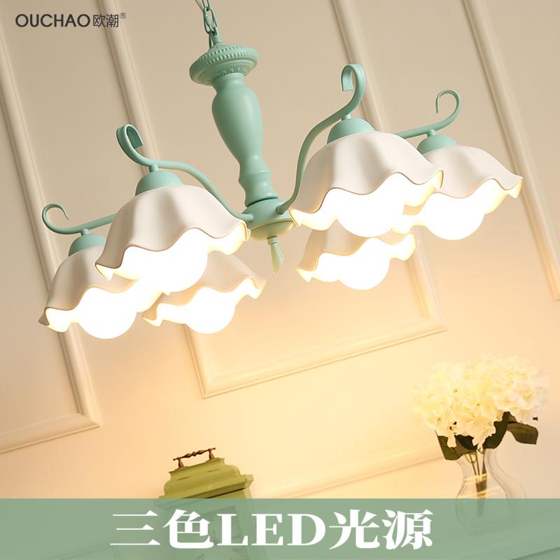 韩式吊灯陶瓷美式田园儿童北欧式现代简约客厅卧室餐厅地中海灯具