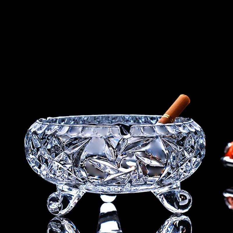 大号玻璃烟灰缸 欧式水晶创意时尚个性客厅卧室办公室ktv酒店烟缸