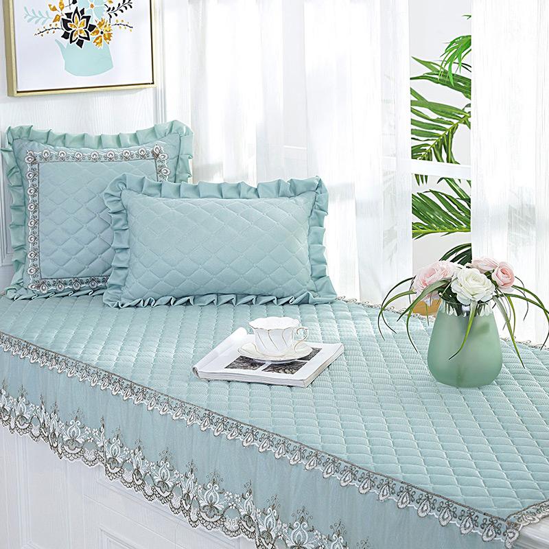 飘窗垫窗台垫可机洗飘窗毯四季通用欧式榻榻米炕套罩卧室装饰垫子