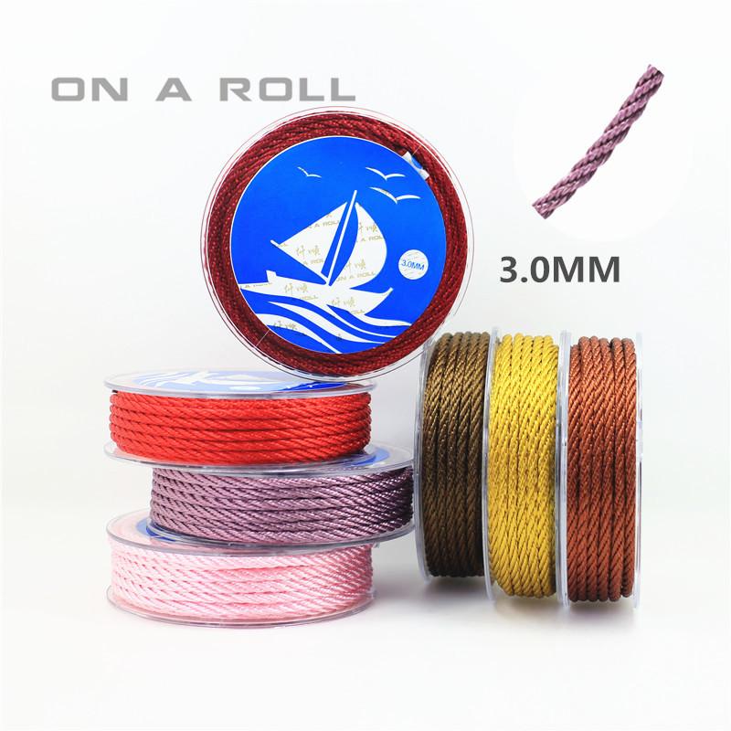DIY饰品配件仟顺 台湾优质璎珞线手链绳项链绳3.0mm