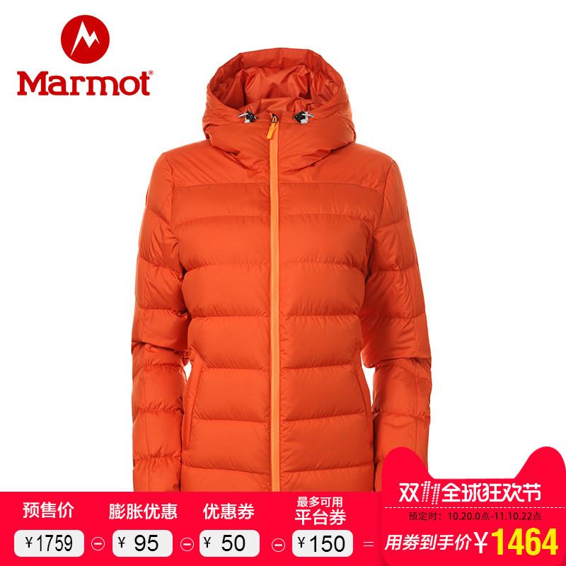 (预)marmot/土拨鼠2017新款户外700蓬拒水羽绒保暖女羽绒服J78630