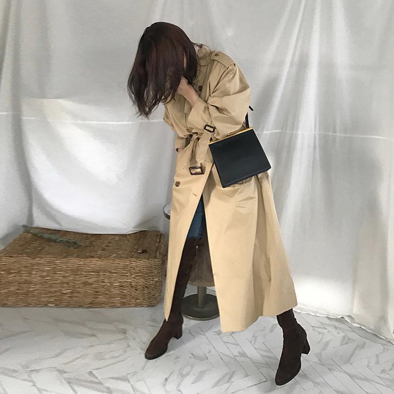 2018春秋新款韩版到脚踝超长款过膝chic风衣外套修身秋季外套女装