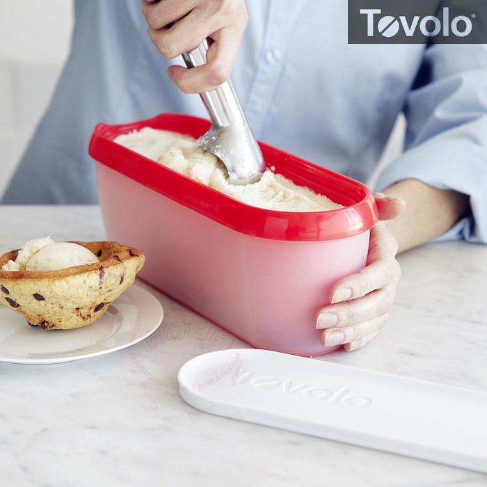 #包邮#美国进口Tovolo双层隔热长形冰淇淋容器 冰激凌冷冻带盖桶