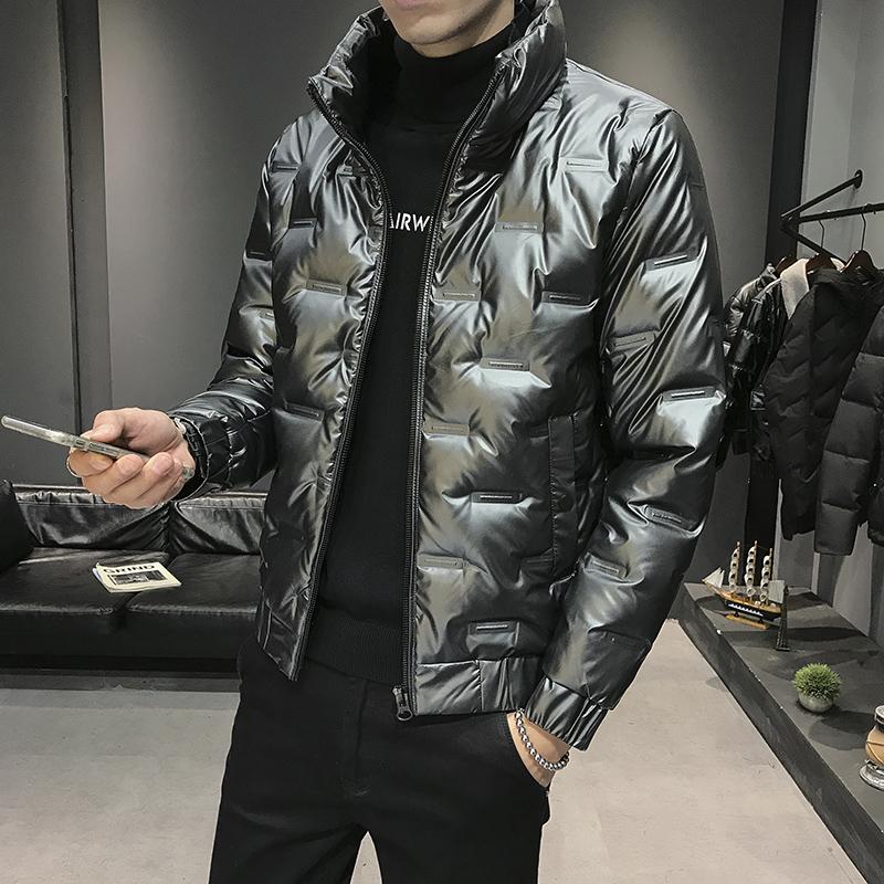 2020冬季新款棉衣男韩版修身亮面棉服加厚保暖外套B305-MY08-P100
