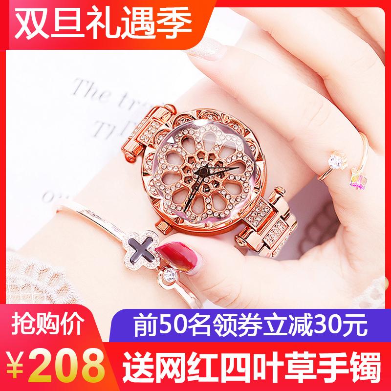 olika网红手表女潮流防水yj时来运转快手同款2018新款学生手表