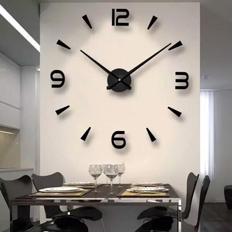 免打孔diy钟表挂钟客厅家用时尚时钟现代简约装饰个性创意静音