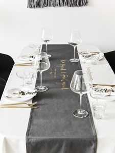 Also original design creative Nordic Europe and the United States cotton bronzing table flag tablecloth simple modern English