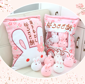 Rabbit plush toy doll cute to accompany you to sleep princess pillow bed puppet doll little white rabbit girl