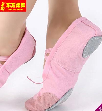 东方炫舞儿童成人舞蹈鞋练功鞋软底鞋体操鞋猫芭蕾舞鞋两点底鞋子