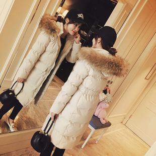 棉衣女2018新款冬中长款棉服 ins外套修身短款过膝小个子羽绒棉袄