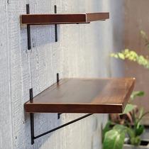 墙上置物架一字隔板墙面实木装饰搁板壁挂书架层板厨房墙架高承重