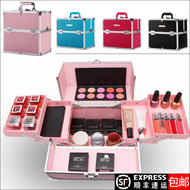 Korea professional portable beauty box large storage box multi - layer folding nail make - up with lock Wenxiu toolbox