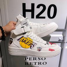 2018新款三方联名空军一号男鞋手绘涂鸦高帮休闲板鞋潮湖人篮球鞋
