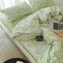床单被罩枕套三件套cn6棉 学生rt9m1.2米单的床品全棉斜纹秋冬