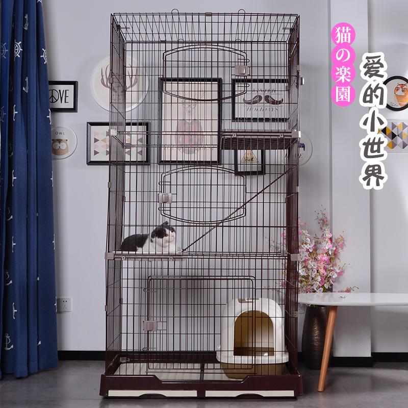 猫笼子猫别墅双层二层三层大号室内猫咪用品兔笼狗笼子宠物笼子