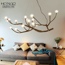 Nordic postmodern LED magic bean chandelier living room dining room bedroom study creative personality molecular lamp