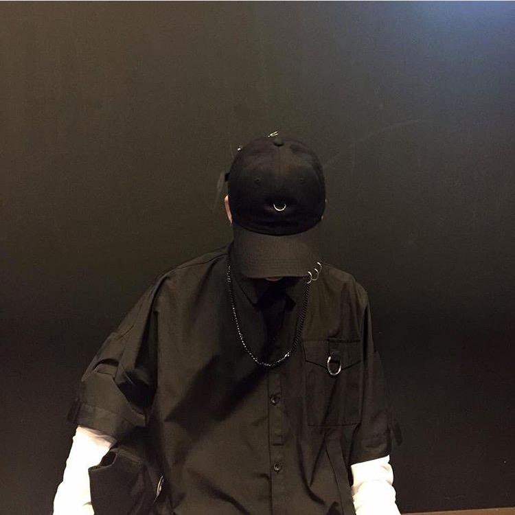 Korea studios. 韩国帅气复古开衫圆环短衬衫 2019新款男女同款